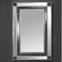 Miroir mural cadre noir et miroir rectangulaire 47,2x31,5''