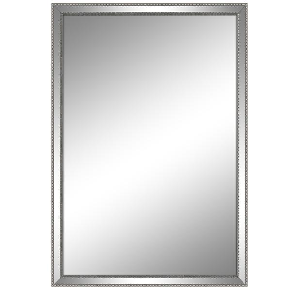 Miroir rectangulaire avec mince contour 23 5x35 5 for Miroir contour argent