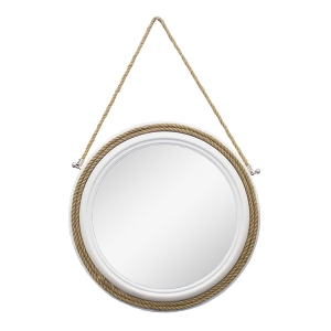 Round mirror hanging by a rope 22 x 22 x 2 39 39 veronneau for Miroir rond corde