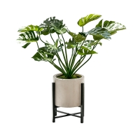 Monstera artificiel de 4' en pot
