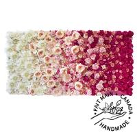 Mur de fleurs rose