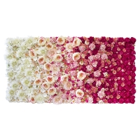 Pink Ombre Rose Flower Wall