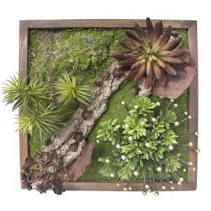 Mur végétal avec décoration métal 15 x 15''