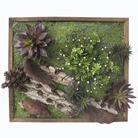 Vegetal wall with metal decoration 20 x 20''