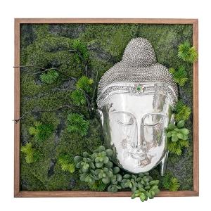 Mur végétal bouddha