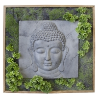 Buddha vegetal wall 30 x 30''