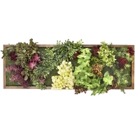 Artificial green wall from the garden, 12 x 36''