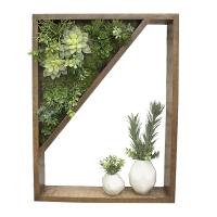 Mur végétal en coin et vases 19 x 24''