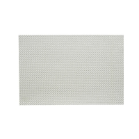Metallic silver trace basketwave placemat 13X19''