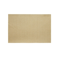 Metallic gold trace basketwave placemat 13X19''