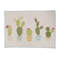 Napperon en coton imprimé, cactus