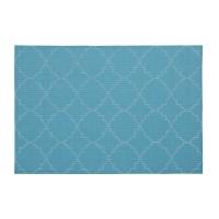 Turquoise vinyl placemat 13 x 19''