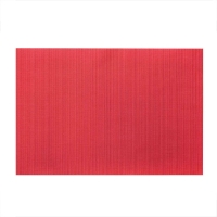 Ribbed red placemat 13x19''