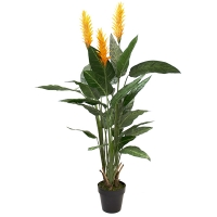 5' Outdoor artificial yellow helliconia