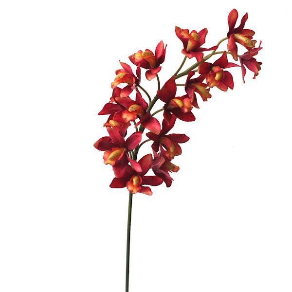 Fleur artificielle orchid e cymbidium corail 26 d cors for Soldes fleurs artificielles