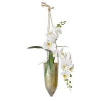 Orchidée dans vase suspendu doré 22 x 24''