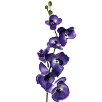 Artificial flower Phalaenopsis orchid 10 purple flowers and