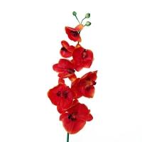 Fleur artificielle Orchidée phaléanopsis 10 fleurs orange et
