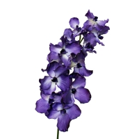 Fleur artificielle Orchidée géante 12 fleurs mauves, 45''