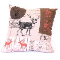 Woodland deer patch pillow 15 x 15''