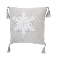 Snowflake pillow, grey and white 14'', 2 ass. Unit price