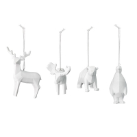 White Resin Animal Ornaments
