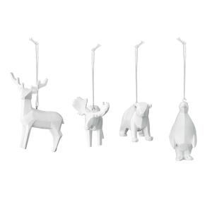 White Resin Animal Ornaments