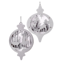 Laser cut glitter ornament 7'', Unit price