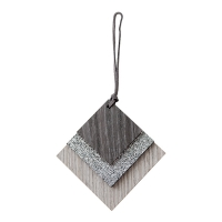 Diamond Shaped Ornament, 4''