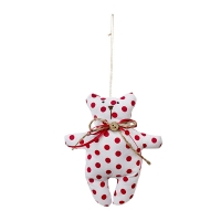 Red polkadots teddy bear ornament 5,5''