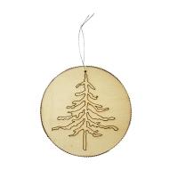 4.25'' wood disc ornament
