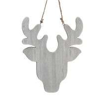 Reindeer head ornament, 12''
