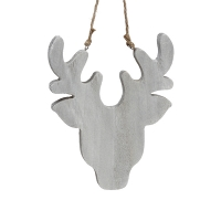 Reindeer head ornament, 8''