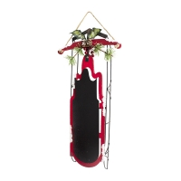 Metal blackboard sled ornament 16''