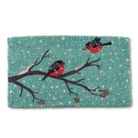 Paillasson oiseaux sur branches, 18 x 30''