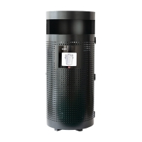 Black Steel Outdoor Waste Bin