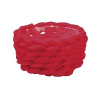 Panier en laine rouge, 4.5 x 8''