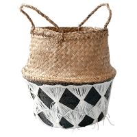 Black & White Textured Belly Basket