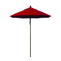 9' Aluminium red umbrella