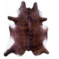 Brown cow hide carpet