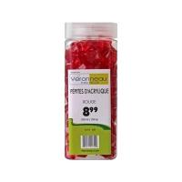 Red acrylic pebbles 550ml/350gr