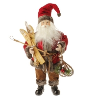 Père Noël 18'' avec skis