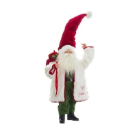 Père Noël blanc, rouge et vert 21''