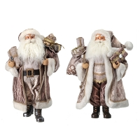 Taupe Santa Statue, 18'', unit price.