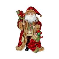 Velvet and fur Santa, 20''