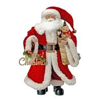 Velvet and fur Santa, 26''
