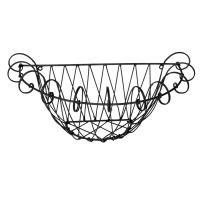 Wrought iron wall basket 17,5x9x7,5''