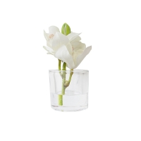 7'' Small white orchids vase