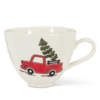 Small Holiday Truck Mug