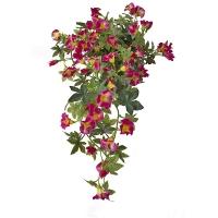 Fleur artificielle Pétunias suspendues rose & blanc 17